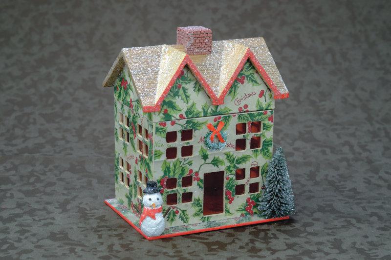 Snowman Cottage Box, Large
