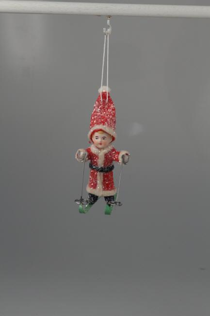 Santa Child on Skis