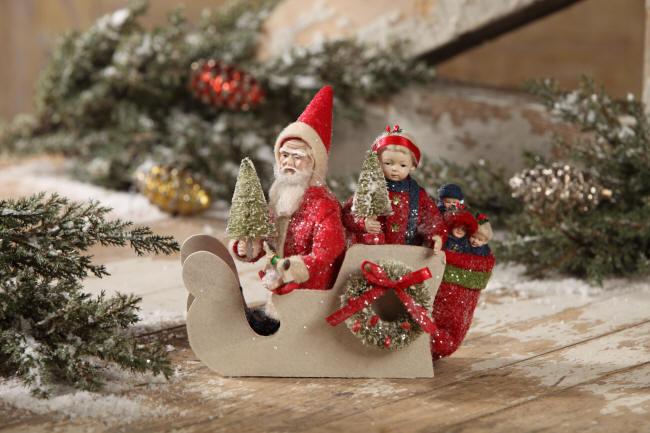 Santa & Child Sleigh